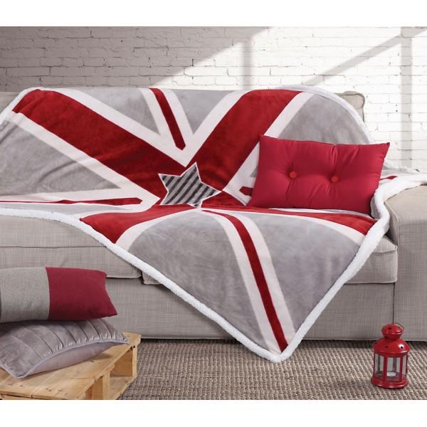 Κουβέρτα Καναπέ Με Γουνάκι Nef-Nef Flag