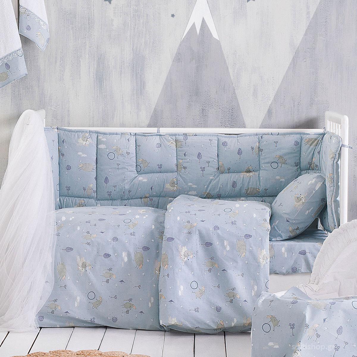 Πάπλωμα Κούνιας Rythmos Baby Land Blue