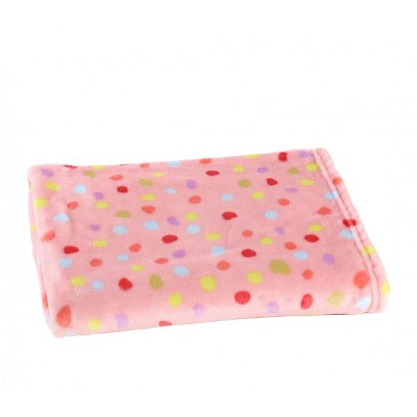Κουβέρτα Fleece Αγκαλιάς Nef-Nef Baby My Garden Pink