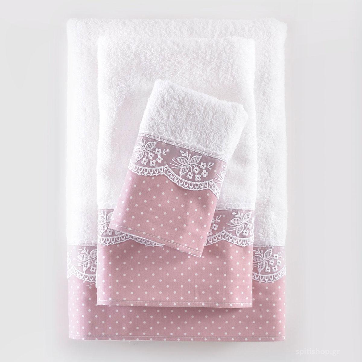 Πετσέτες Μπάνιου (Σετ 3τμχ) Rythmos Dotty Pink ΣΥΣΚΕΥΑΣΙΑ ΚΟΥΤΙ ΣΥΣΚΕΥΑΣΙΑ ΚΟΥΤΙ