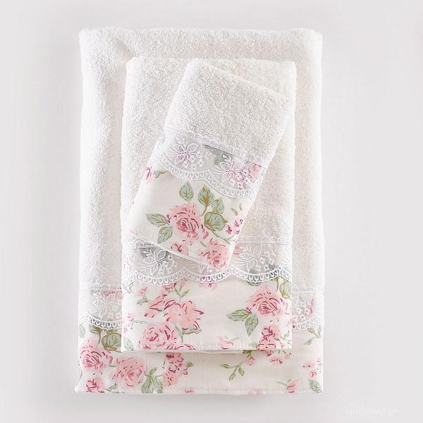 Πετσέτες Μπάνιου (Σετ 3τμχ)  Rythmos Amelie Somon