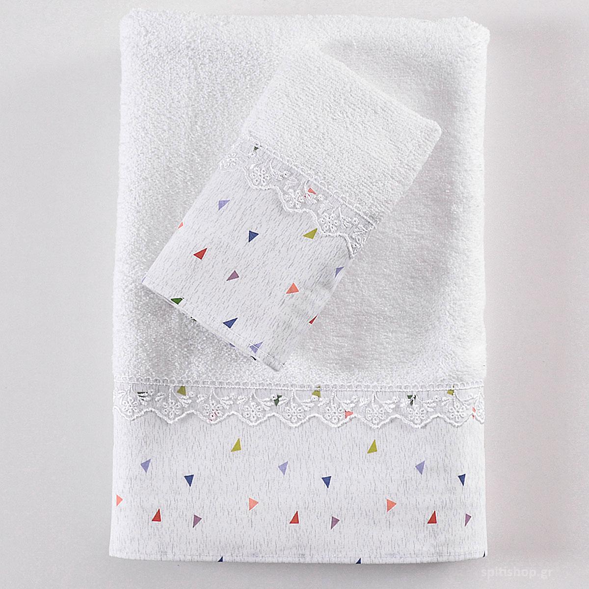 Παιδικές Πετσέτες (Σετ 3τμχ) Rythmos Confetti Grey ΣΥΣΚΕΥΑΣΙΑ ΣΑΚΟΥΛΑ ΣΥΣΚΕΥΑΣΙΑ ΣΑΚΟΥΛΑ