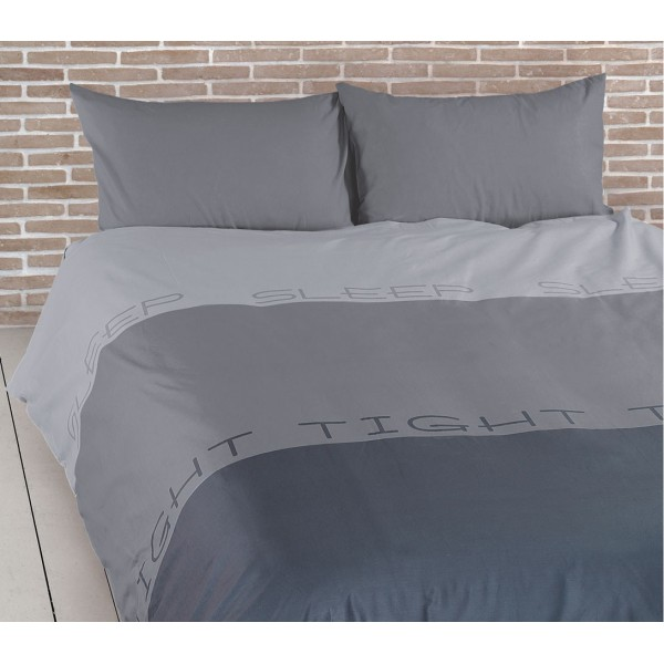 Παπλωματοθήκη Μονή Nef-Nef Sleep Tight Grey