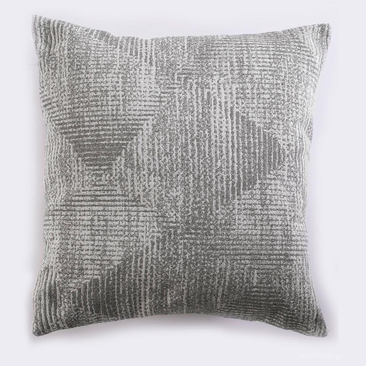 Διακοσμητική Μαξιλαροθήκη (40×40) Rythmos Aleora 01 Grey