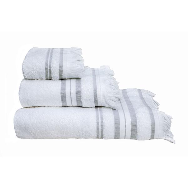 Πετσέτες Μπάνιου (Σετ 3τμχ) Melinen Yoga White