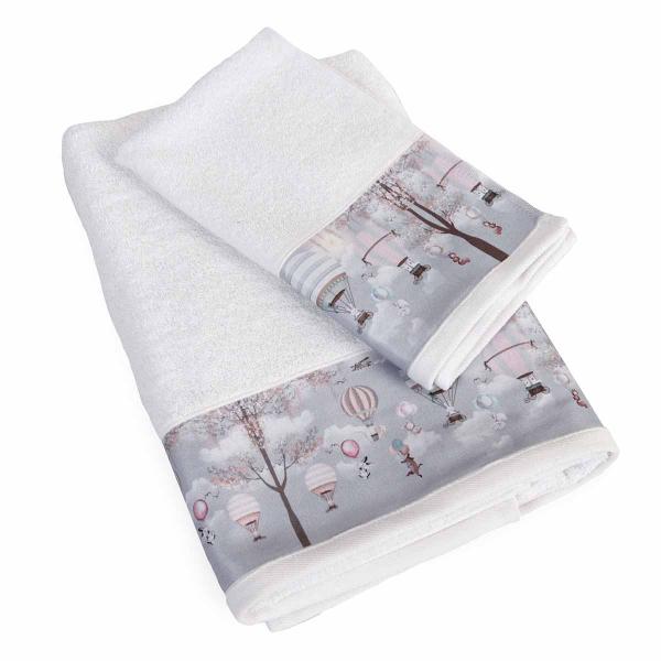 Βρεφικές Πετσέτες (Σετ 2τμχ) Dimcol Serenity 71 Λευκό
