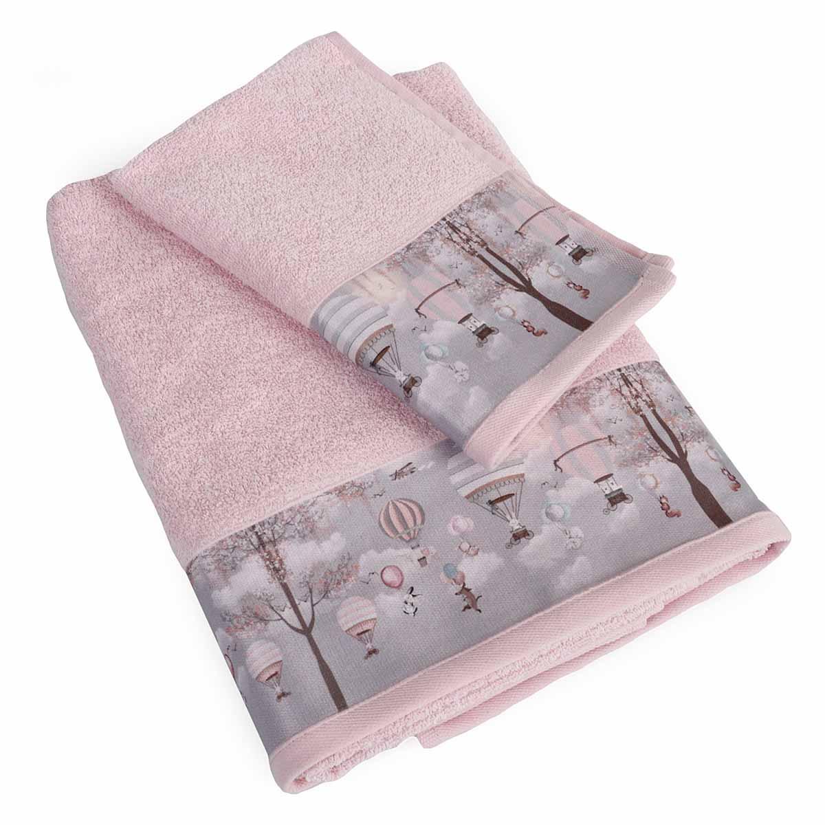 Βρεφικές Πετσέτες (Σετ 2τμχ) Dimcol Serenity 73 Ροζ
