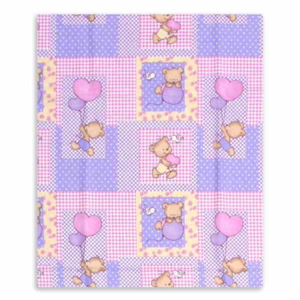 Φανελένιο Σεντόνι Λίκνου Dimcol Baloon 75 Pink