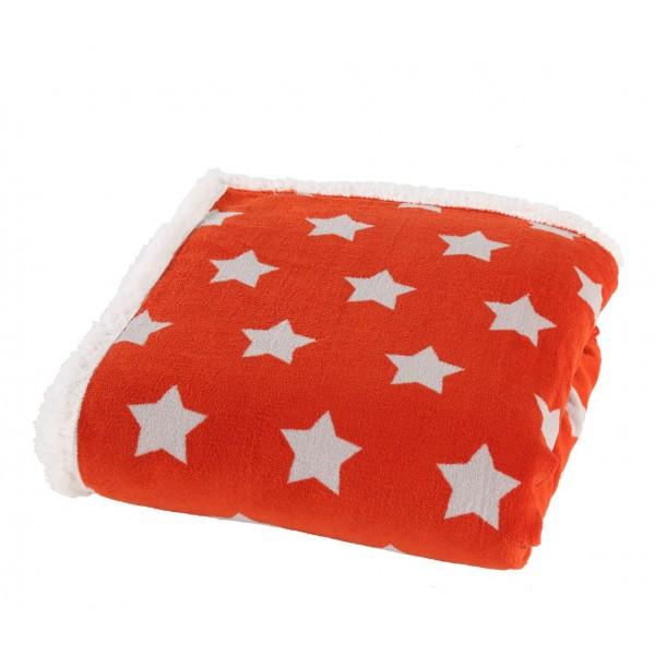 Κουβέρτα Καναπέ Με Γουνάκι Nef-Nef Night Stars Orange