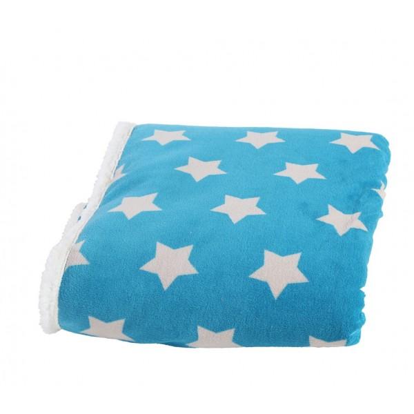 Κουβέρτα Καναπέ Με Γουνάκι Nef-Nef Night Stars Petrol