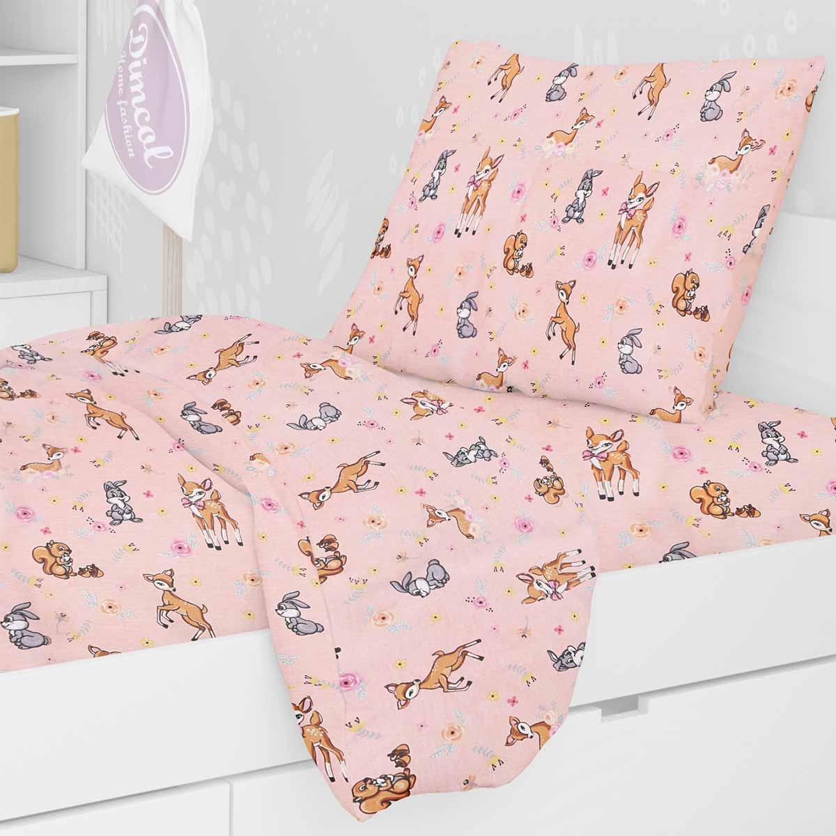 Μαξιλαροθήκη Dimcol Ελαφάκι 117 Pink
