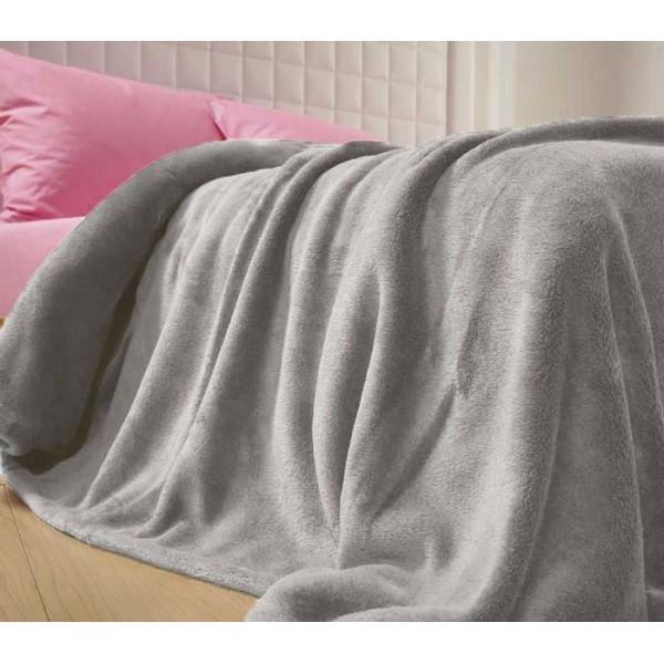 Κουβέρτα Fleece Υπέρδιπλη Nef-Nef Planet Light Grey