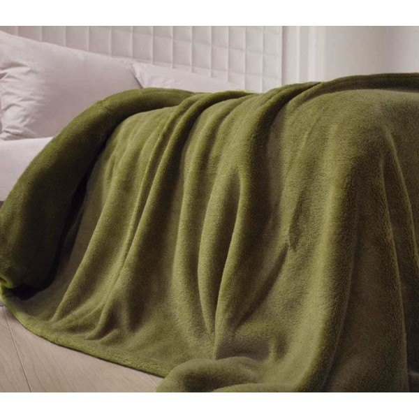 Κουβέρτα Fleece Υπέρδιπλη Nef-Nef Planet Olive