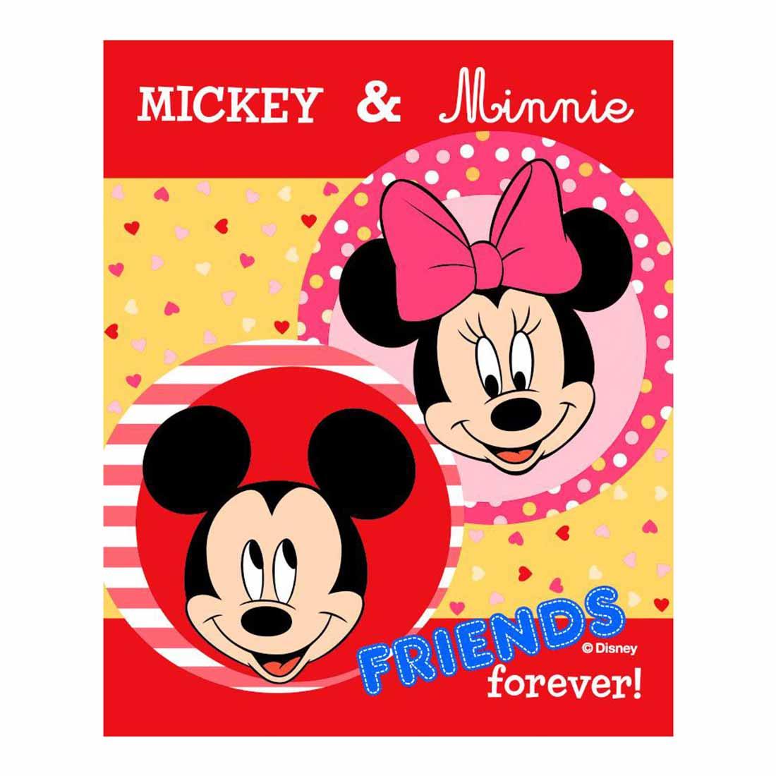 Κουβέρτα Βελουτέ Κούνιας Dimcol Mickey-Minnie For Ever