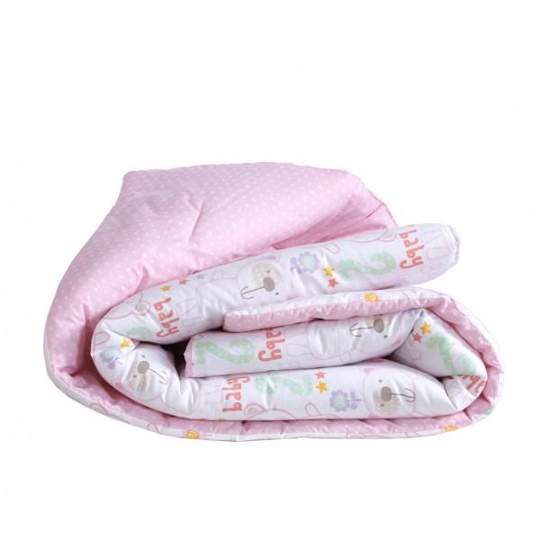 Πάπλωμα Κούνιας Nef-Nef Baby Bears Pink
