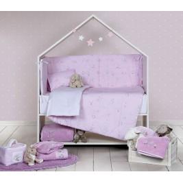 Παπλωματοθήκη Κούνιας (Σετ) Nef-Nef Baby Dream With Me Lilac