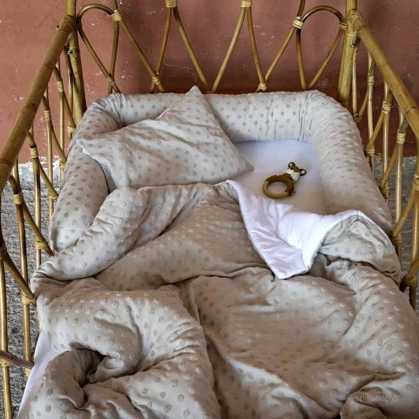 Προστατευτικό Μαξιλάρι Μακό Κούνιας Nima Baby Pookie Beige