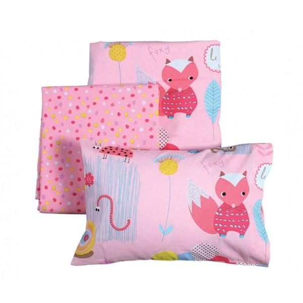 Σεντόνια Κούνιας (Σετ) Nef-Nef Baby My Garden Pink