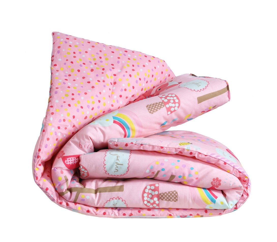 Πάπλωμα Κούνιας Nef-Nef Baby My Garden Pink