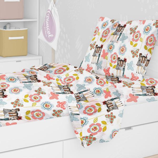 Παιδική Μαξιλαροθήκη Dimcol Girls 58 Pink