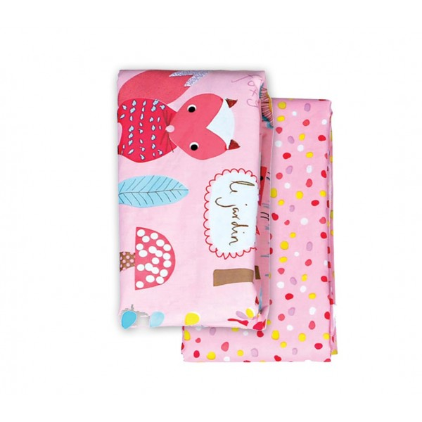Σεντόνια Λίκνου (Σετ) Nef-Nef Baby My Garden Pink