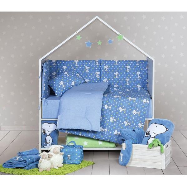 Παπλωματοθήκη Κούνιας (Σετ) Nef-Nef Baby Snoopy Star