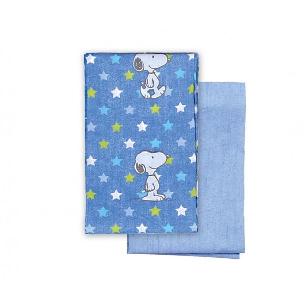 Σεντόνια Λίκνου (Σετ) Nef-Nef Baby Snoopy Star