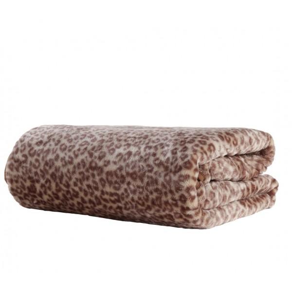 Κουβέρτα Βελουτέ Υπέρδιπλη Nef-Nef Animal Brown