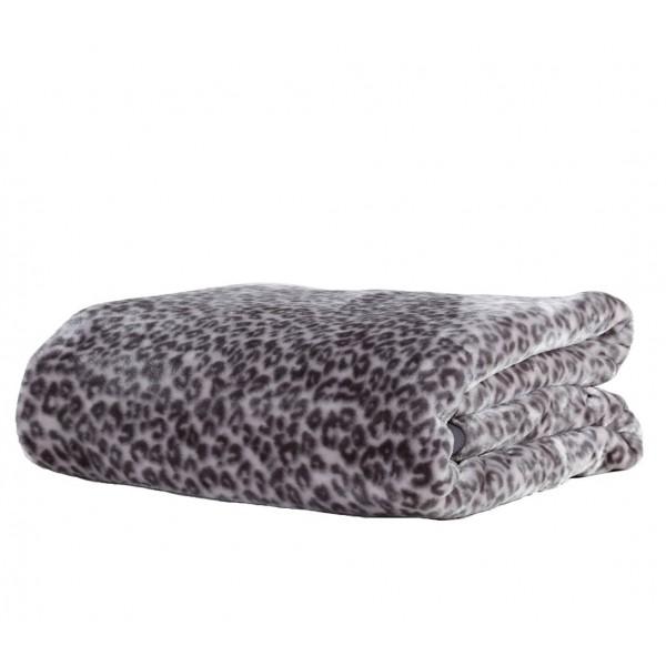 Κουβέρτα Βελουτέ Υπέρδιπλη Nef-Nef Animal Grey