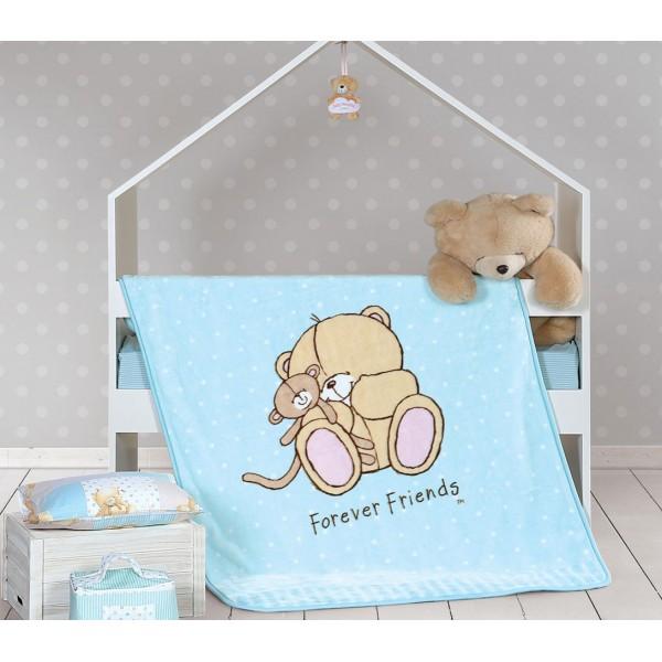 Κουβέρτα Βελουτέ Κούνιας Nef-Nef Baby FF Big Hugs Mint