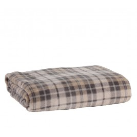 Κουβέρτα Fleece Υπέρδιπλη Nef-Nef Tartan Beige