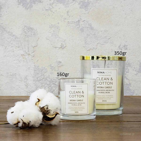 Αρωματικό Κερί 350gr Nima Aroma Clean & Cotton