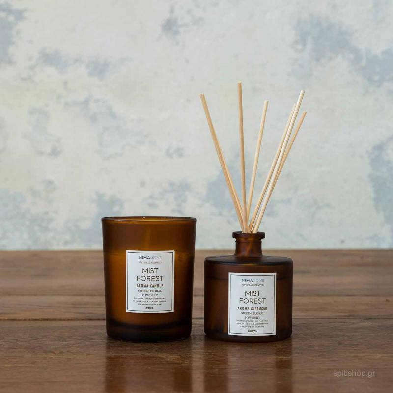 Αρωματικό Χώρου Με Στικς + Αρωματικό Κερί Nima Aroma Mist Forest