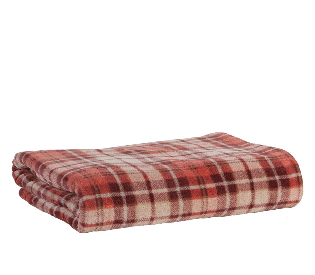 Κουβέρτα Fleece Υπέρδιπλη Nef-Nef Tartan Terra