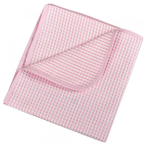 Κουβέρτα Πικέ Αγκαλιάς Κόσμος Του Μωρού 0332 Λευκό-Ροζ