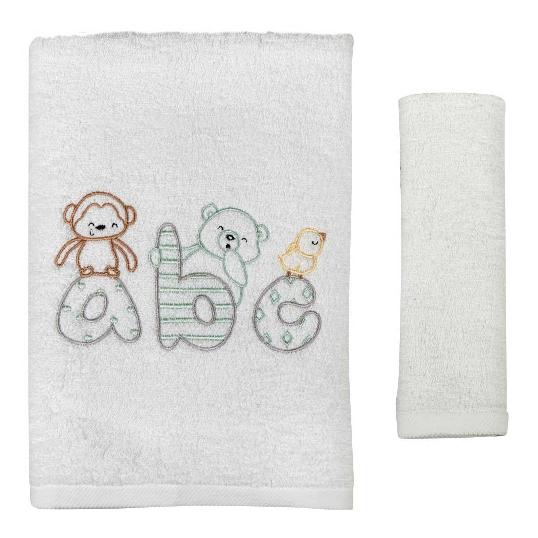 Βρεφικές Πετσέτες (Σετ 2τμχ) Κόσμος Του Μωρού 0502 ABC Γκρι
