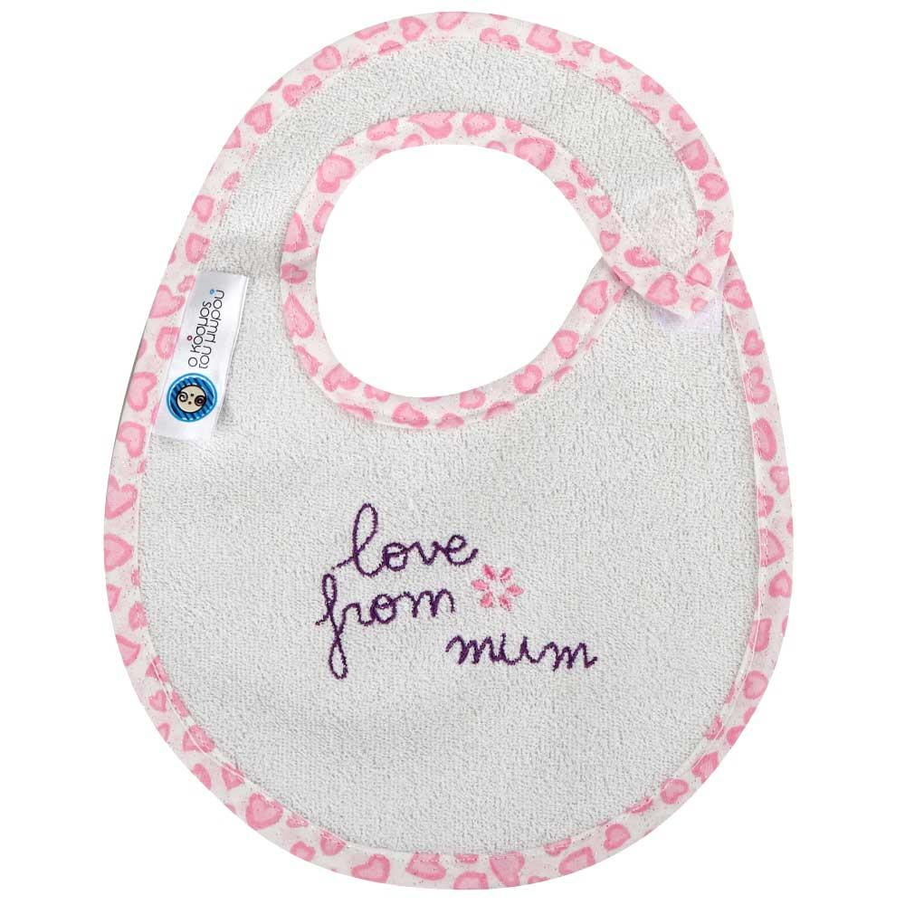 Σαλιάρα Μικρή Κόσμος Του Μωρού 0608 Love From Mum Ροζ