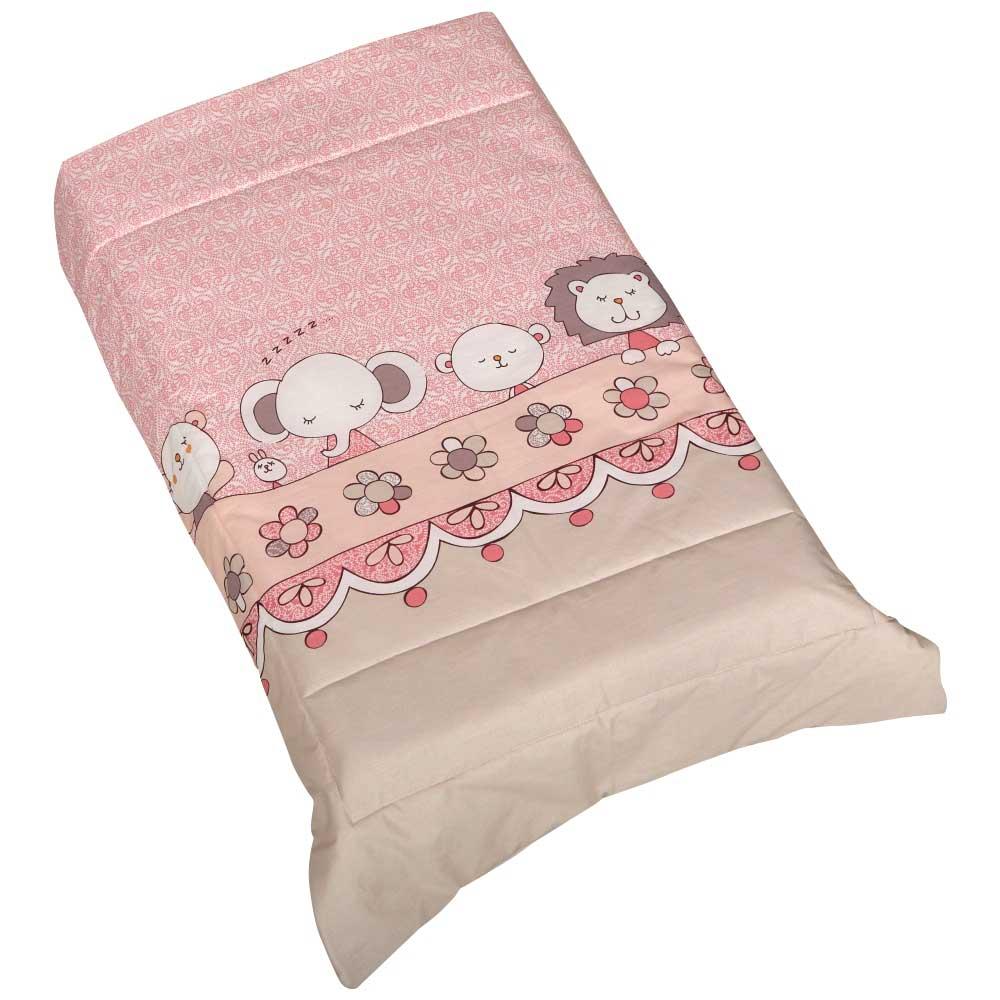 Πάπλωμα Λίκνου Κόσμος Του Μωρού 0885 Volt Ροζ