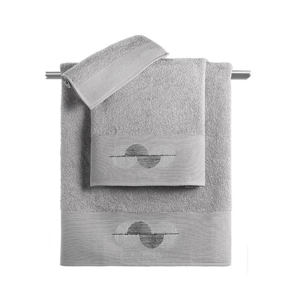 Πετσέτες Μπάνιου (Σετ 3τμχ) Guy Laroche Vento Silver