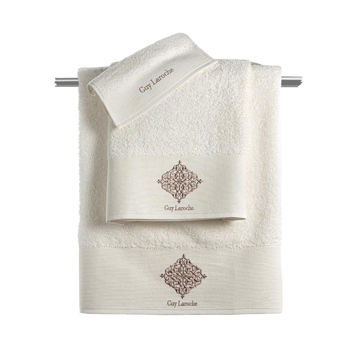 Πετσέτες Μπάνιου (Σετ 3τμχ) Guy Laroche Callista Ivory