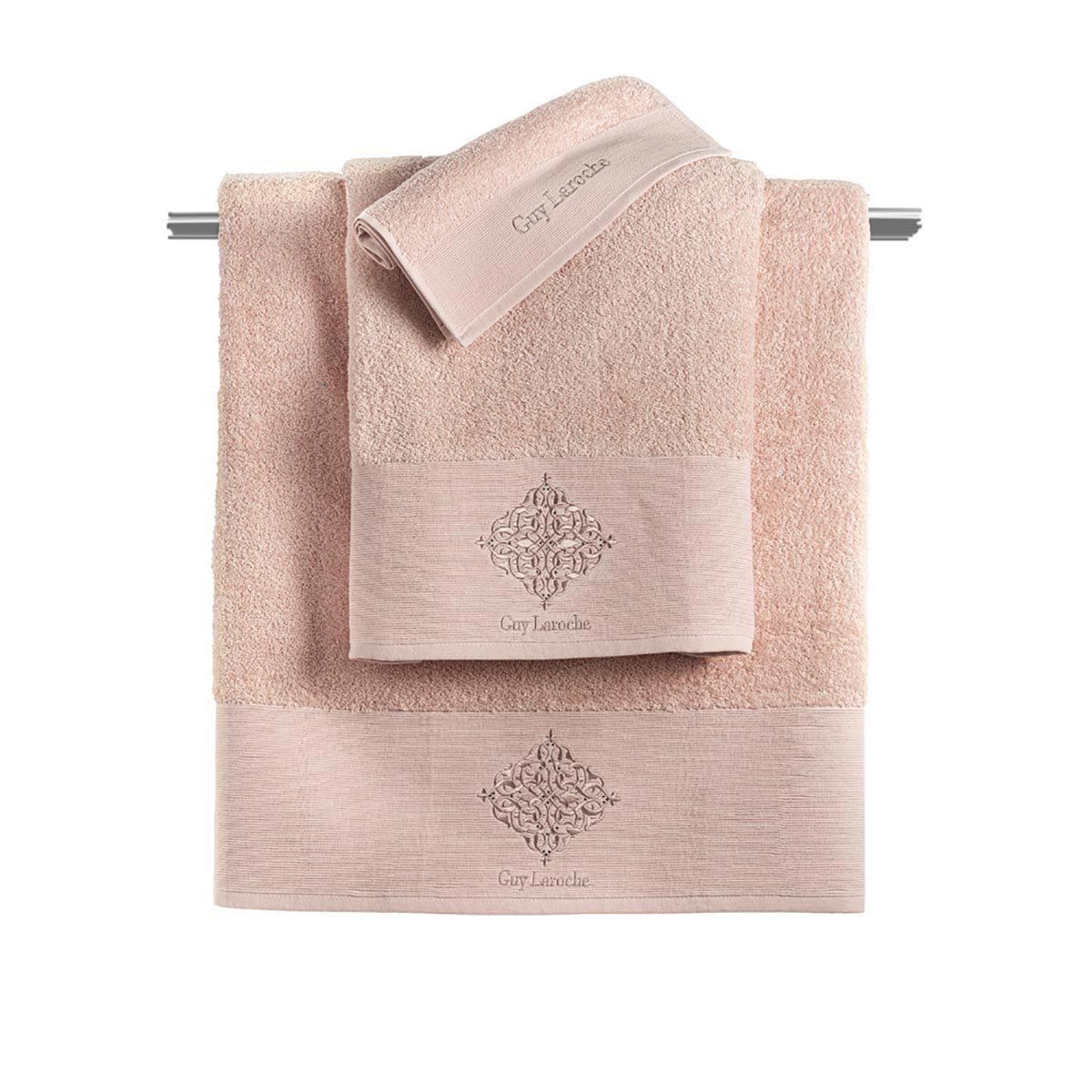 Πετσέτες Μπάνιου (Σετ 3τμχ) Guy Laroche Callista Old Pink