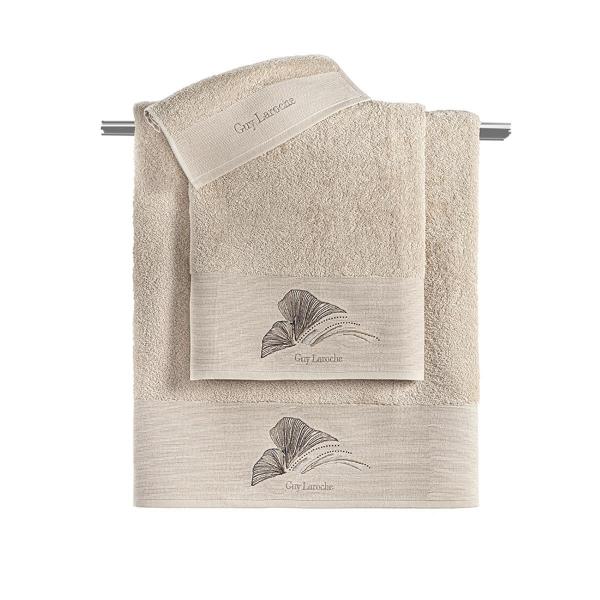 Πετσέτες Μπάνιου (Σετ 3τμχ) Guy Laroche Carra Sand