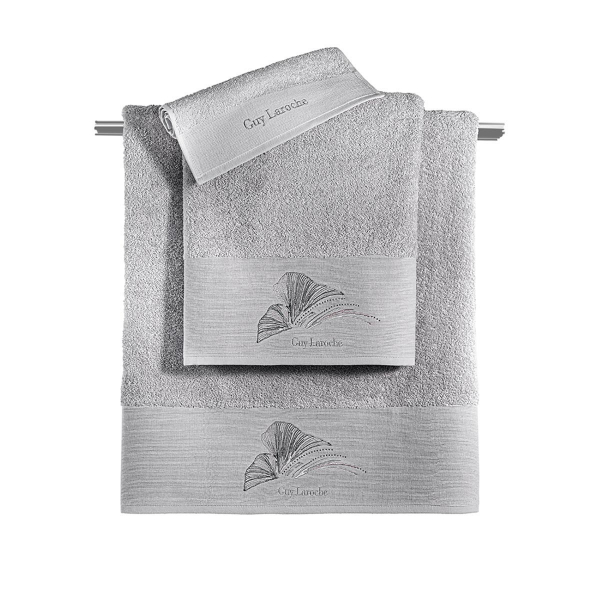 Πετσέτες Μπάνιου (Σετ 3τμχ) Guy Laroche Carra Silver