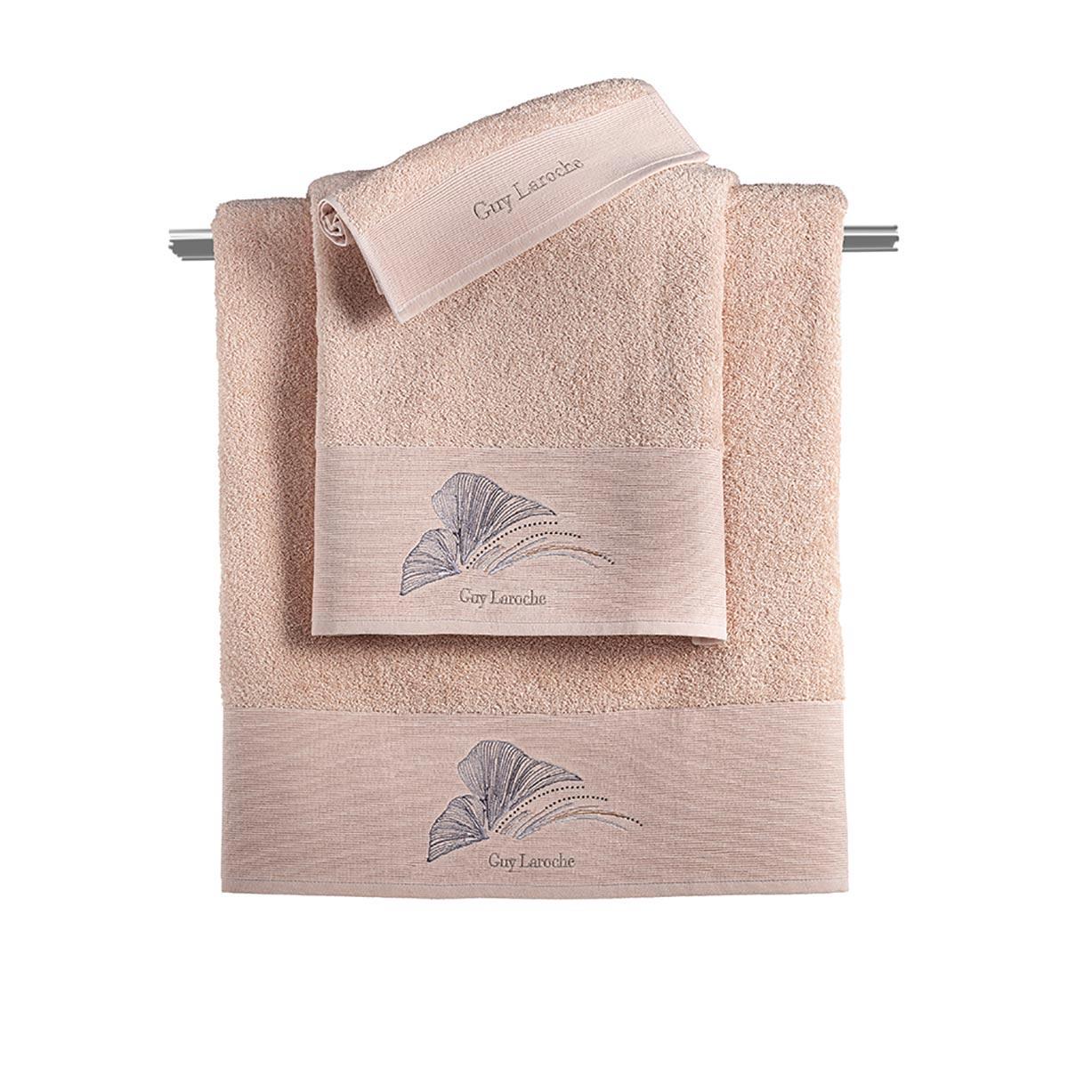 Πετσέτες Μπάνιου (Σετ 3τμχ) Guy Laroche Carra Old Pink