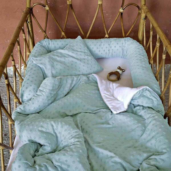 Προστατευτικό Μαξιλάρι Μακό Κούνιας Nima Baby Pookie Mint