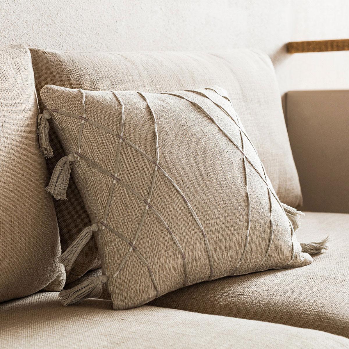 Διακοσμητική Μαξιλαροθήκη (43×43) Gofis Home Sabi Grey 203/15