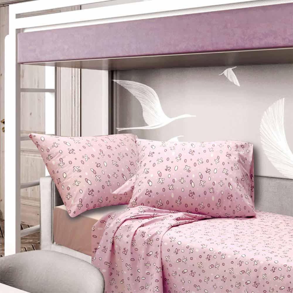 Σεντόνια Μονά (Σετ) Sb Home Kid Camy Pink