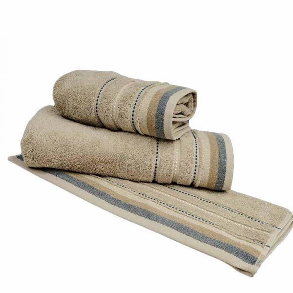 Πετσέτες Μπάνιου (Σετ 3τμχ) Sb Home Sesilia Beige