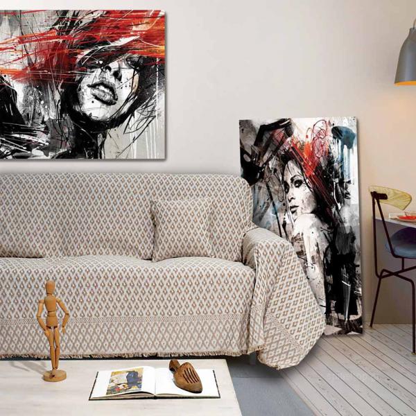 Ριχτάρι Τριθέσιου (180x300) Sb Home Erika Beige