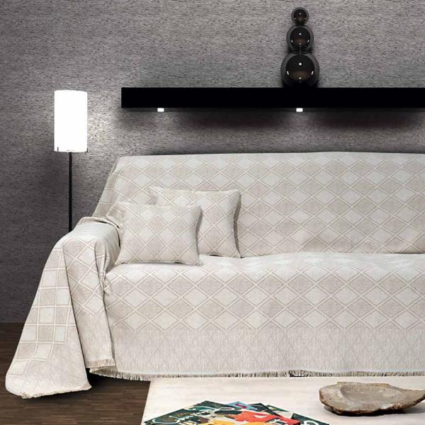Διακοσμητική Μαξιλαροθήκη (40x40) Sb Home Kasandra Cream